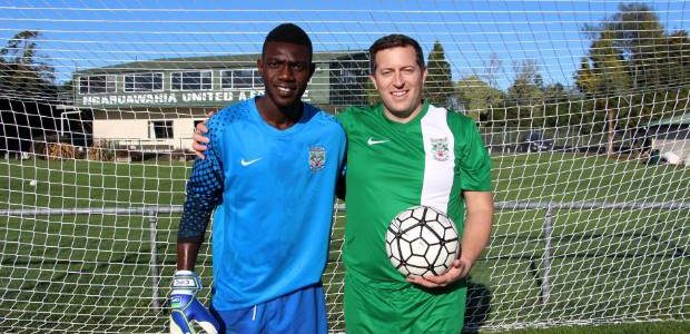 Defending goals for Ngaruawahia United AFC is Isaac Tetteh from Ghana – and club president Jared Williams is excited to have him in the club.